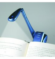 Klemm-Leselampe Bookchair Clip-On LED Blau
